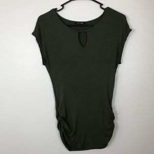 3/$20 Papermoon Ribbed Keyhole Top